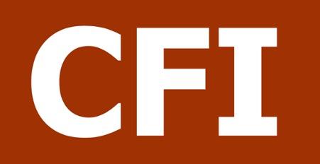 "CFI logo: Red background with ""CFI"" in white."